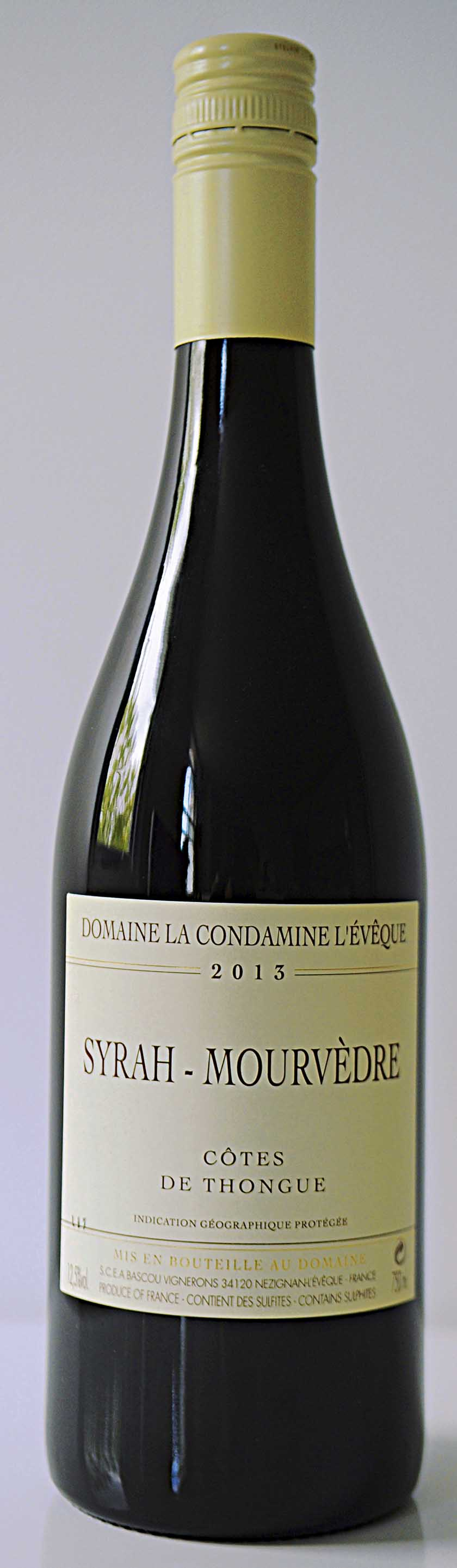 Domaine Condamine Syrah/Mourvèdre 2013, Cotes de Thongue, France, £8