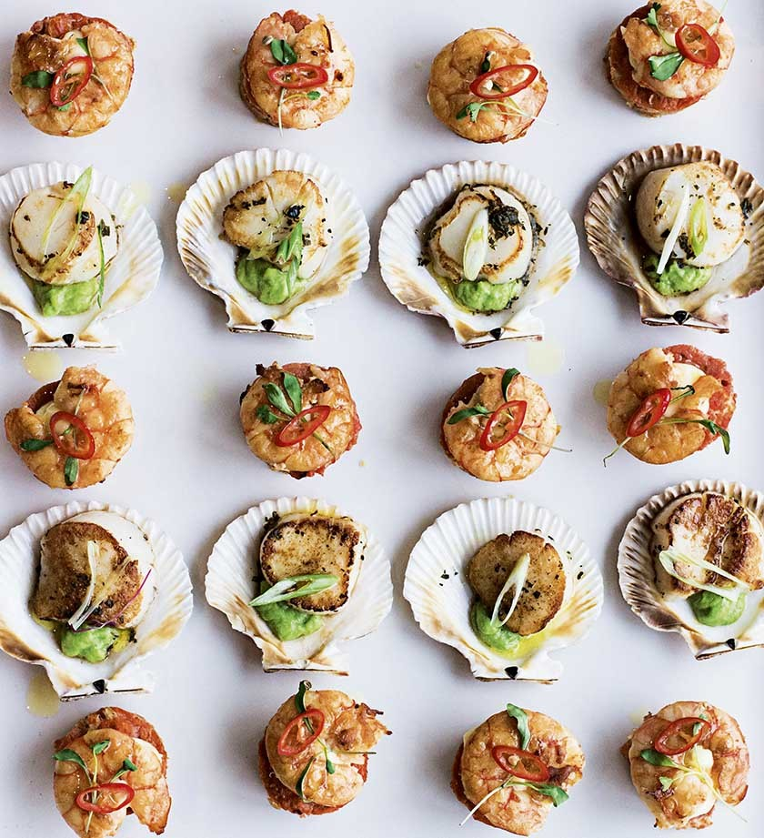 Seafood Canapes Parabola