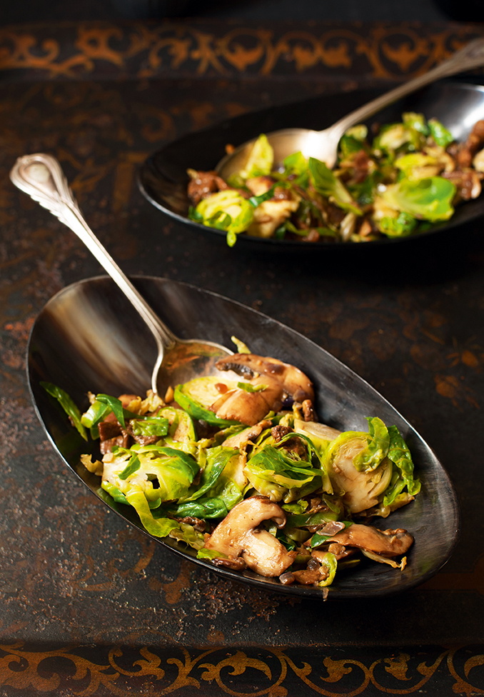 Brussels Sprout And Mushroom
