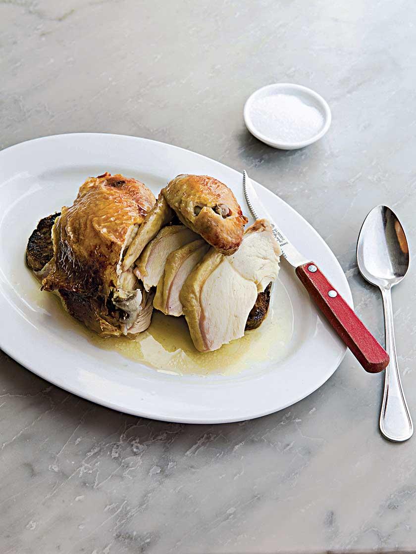 Roasted capon on garlic crouton | Food and Travel Magazine UK