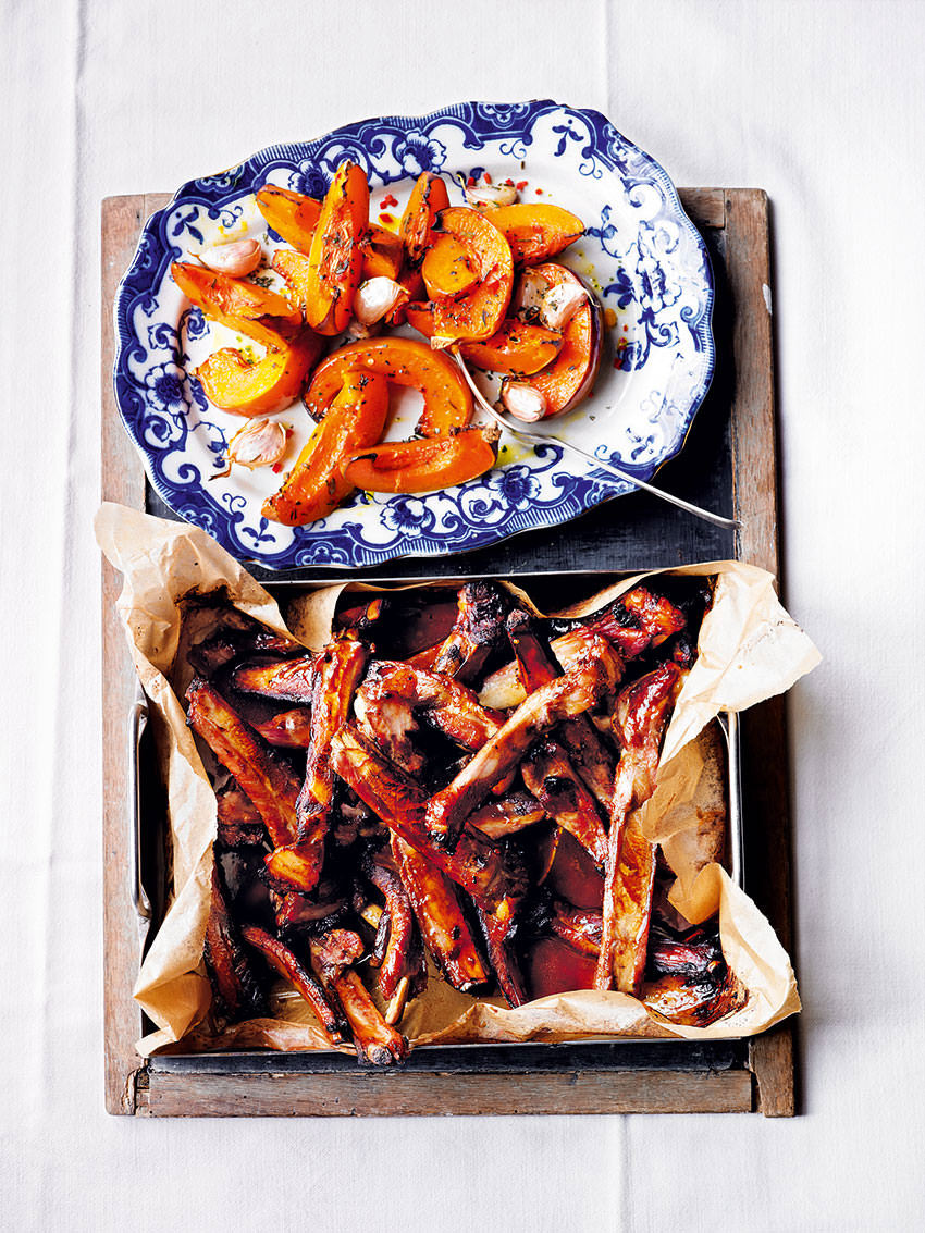 Hugh Fearnley- Whittingstall's sticky glazed spare ribs