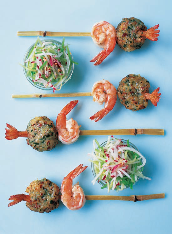 Food And Travel Magazine Crab And Prawn Balls Served