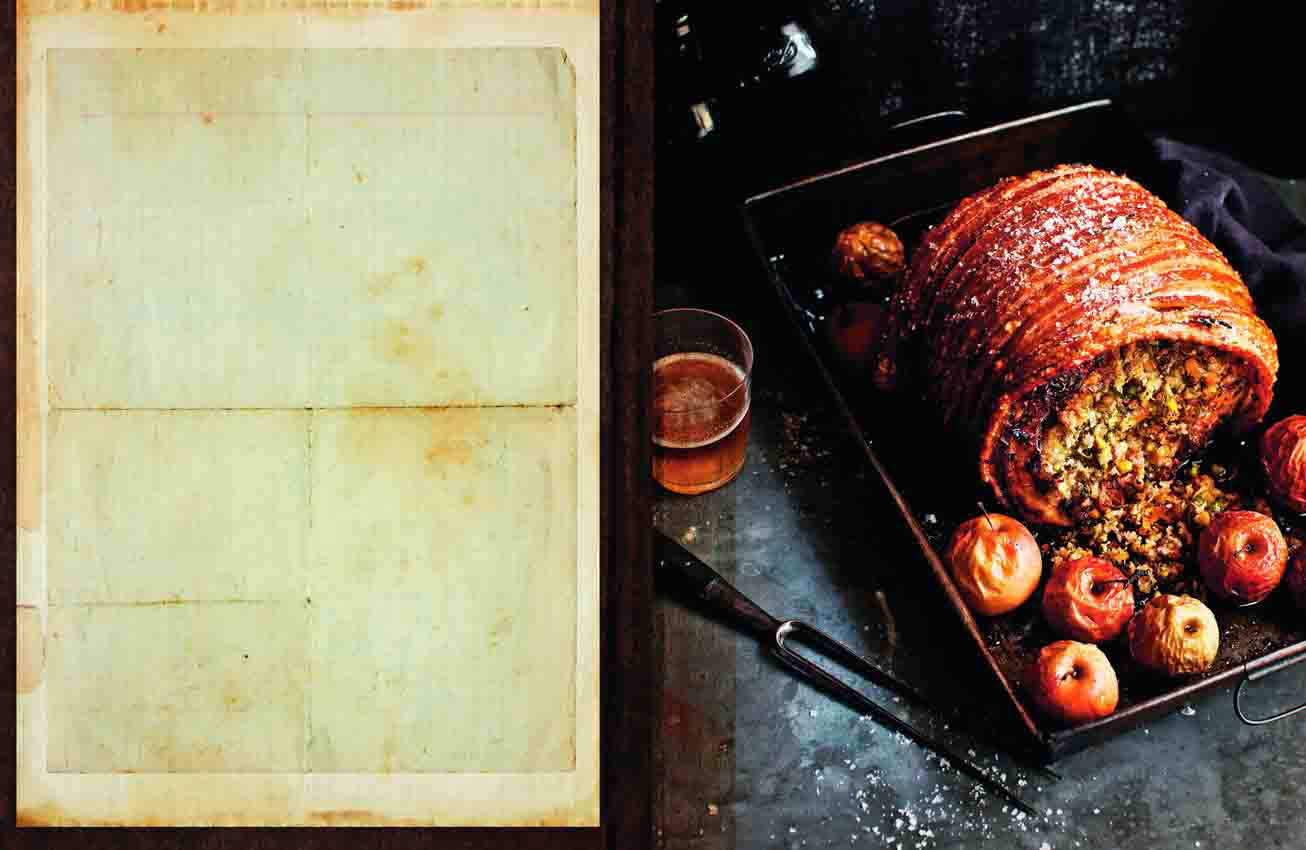 Food And Travel Magazine Roast Pork With Apple Apricot And