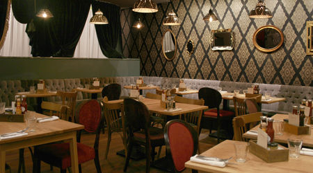 Interior of Soho restaurant