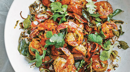 Tiger  Prawns With  Lime   Ginger   Mustard